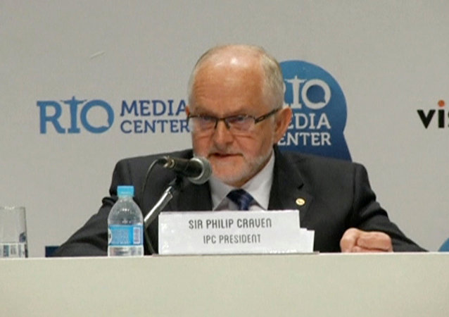 International Paralympic Committee (IPC) President Philip Craven speaks during a news conference in Rio de Janeiro, Brazil August 7, 2016 in this still image taken from video.