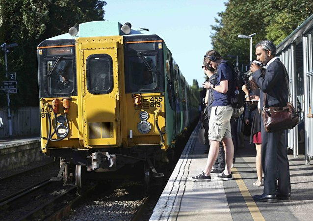 Southern train arrives at Dulwich East station in London, Britain August 9, 2016
