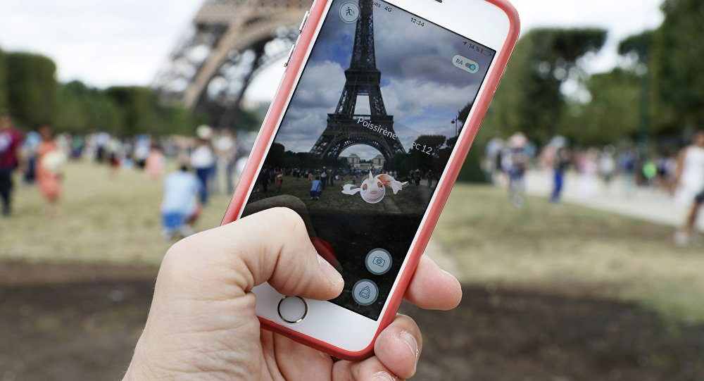 This file photo taken on July 26, 2016 shows the 'Pokemon Go' app on the screen of a smartphone, in Paris, on July 26, 2016