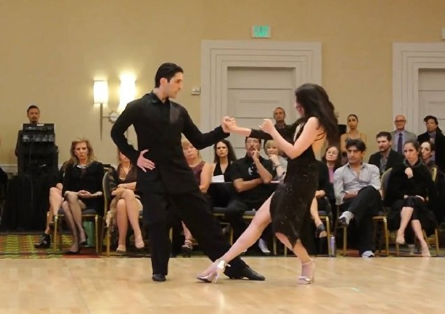 Yamila Viana & Ivan Troshhi Final Stage Tango at the 2015 UTUSA. (File)
