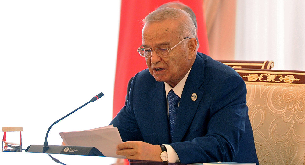 President of Uzbekistan Islam Karimov during a meeting of the SCO Heads of State Council, dedicated to the 15th anniversary of the Shanghai Cooperation Organization, in Tashkent. (File)