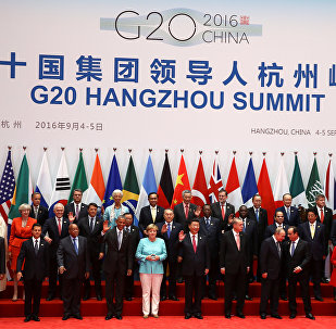 Leaders pose for pictures during the G20 Summit in Hangzhou, Zhejiang province, China September 4, 2016.