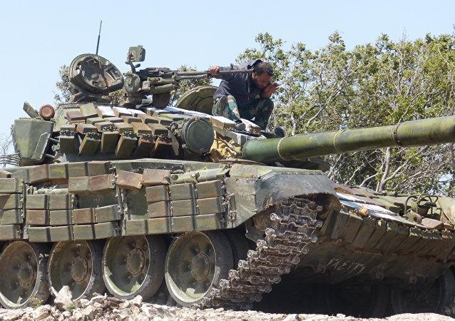 Syrian army in Aleppo province