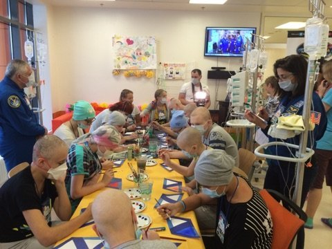 NASA astronauts hold art therapy master class for cancer patients in Moscow