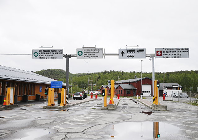 The Storskog border crossing between Norway and Russia near the Norwegian town of Kirkenes in the far north of the country