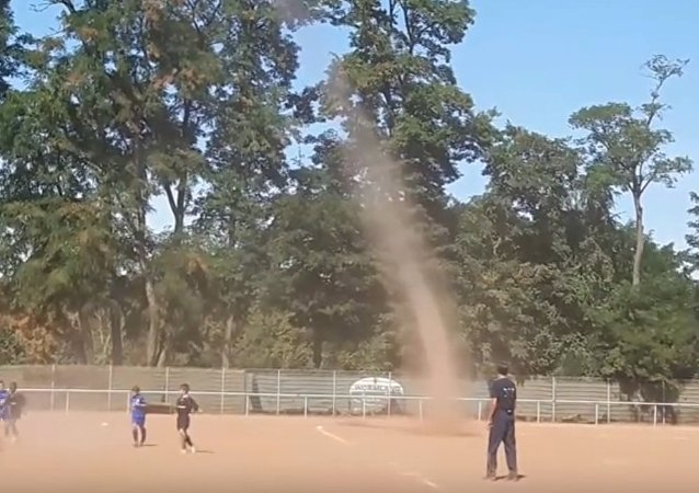 Dust Devil on the Soccer Field