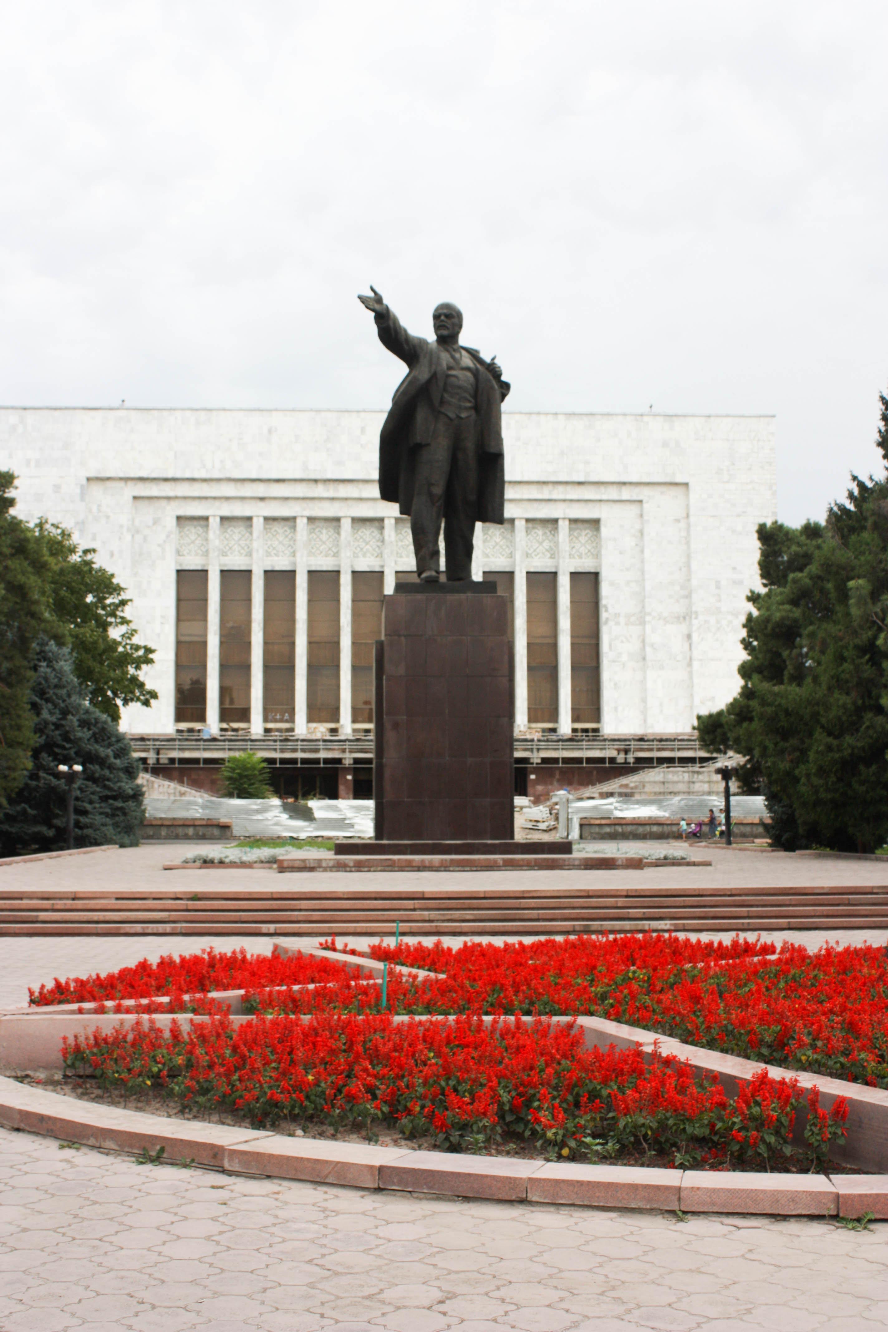 Statue of Vladimir Lenin in the country's capital of Bishkek