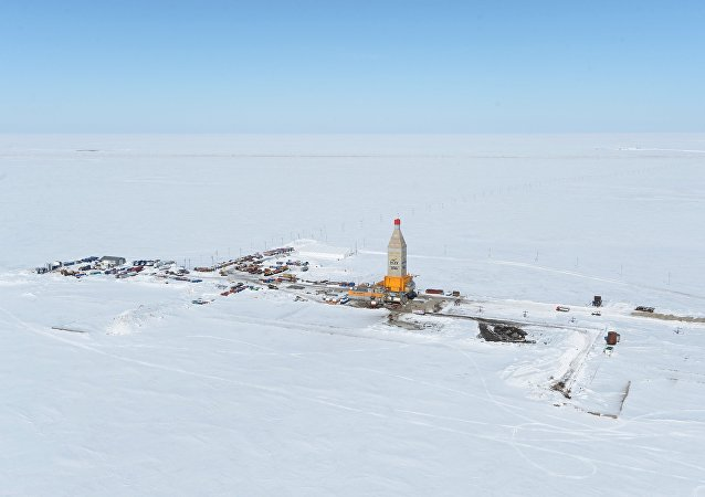 The Arktika drilling rig at the South Tambey gas field in the Yamal-Nenets Autonomous Area. (File)
