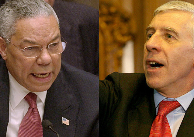Colin Powell and Jack Straw