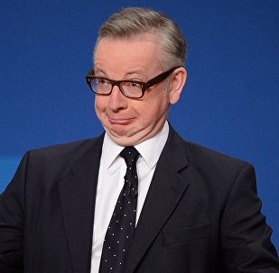 Michael Gove addresses delegates on the final day of the annual Conservative Party Conference in Birmingham, central England, on October 1, 2014.