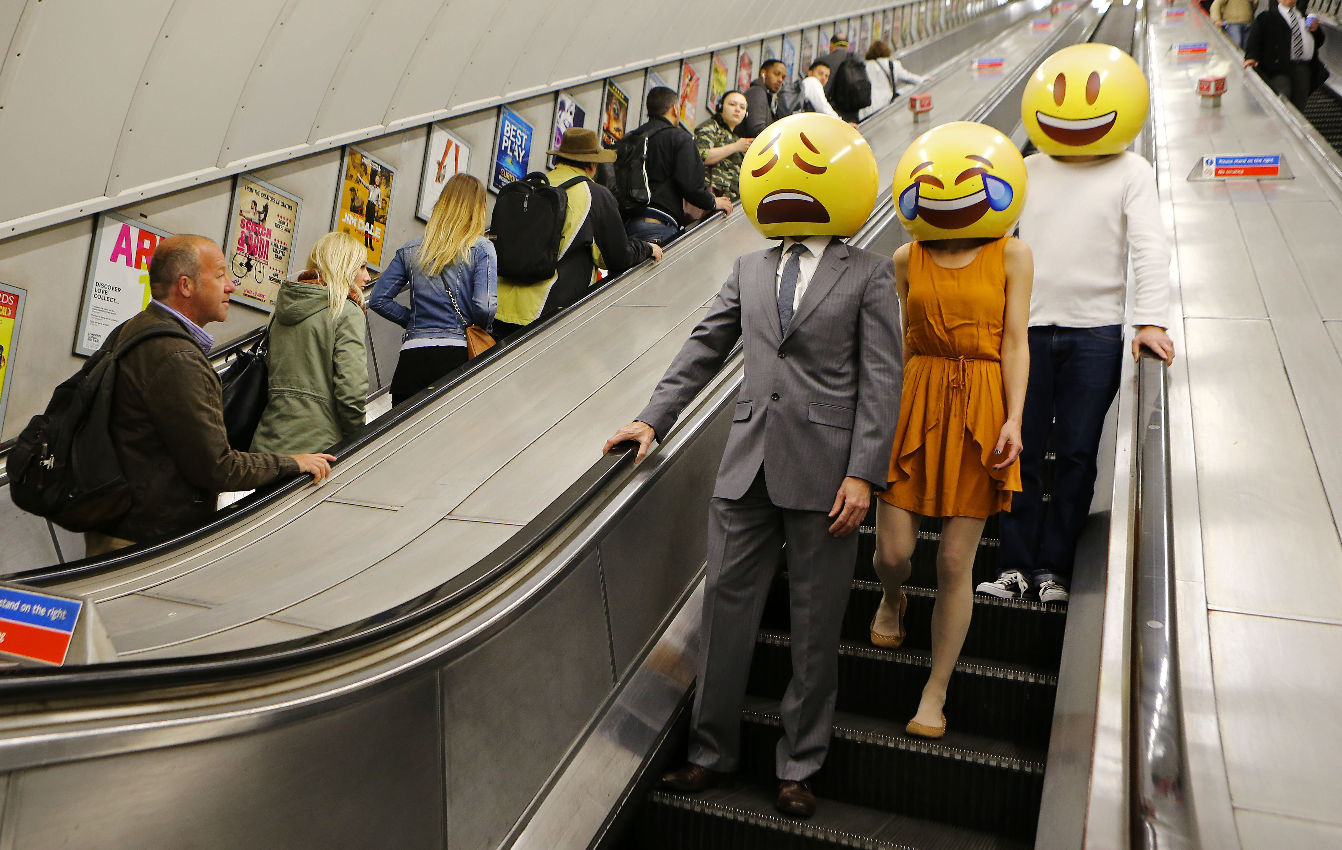 Emoji characters around London