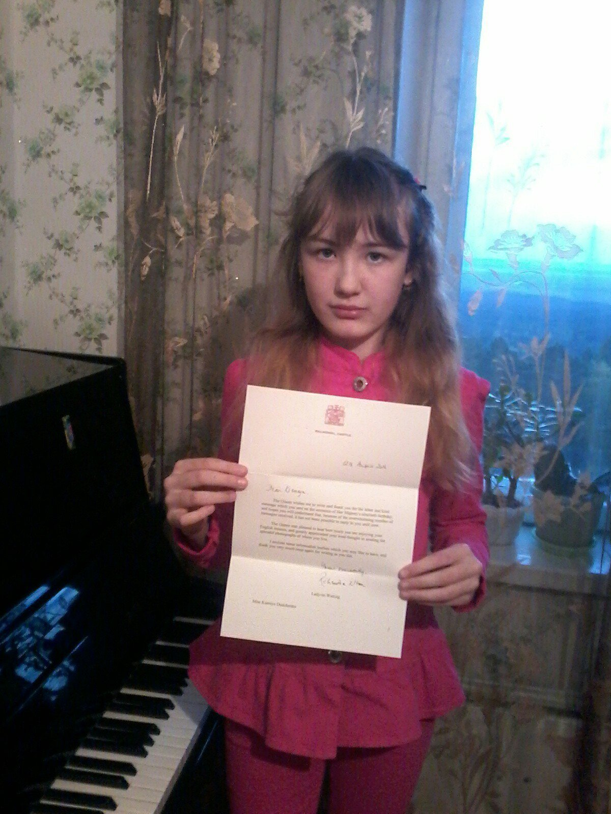 Kseniya Dudchenko received a reply from the Queen of Great Britain Elizabeth II.