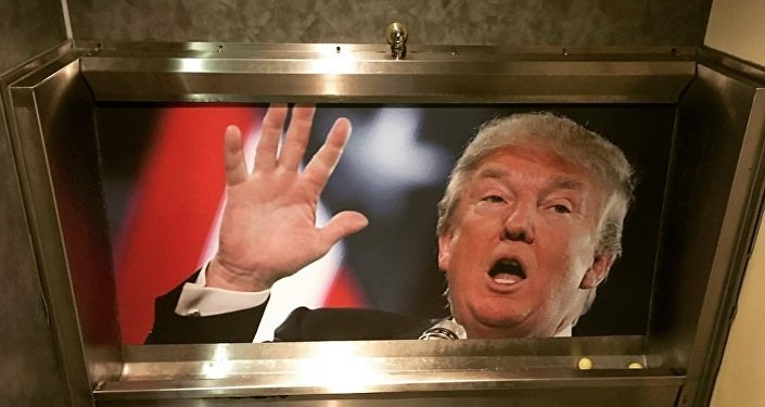Donald Trump Urinals are all the range in some bars in the UK.