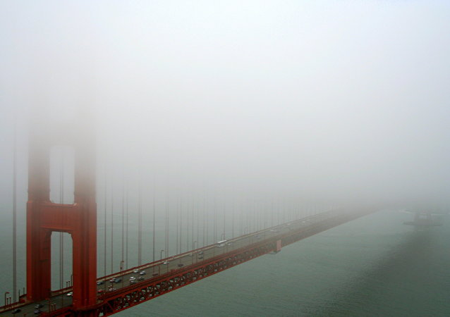 Fog Hides GG Bridge, San Francisco, CA