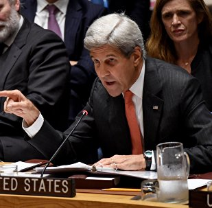 US Secretary of State John Kerry speaks during a Security Council Meeting September 21, 2016 on the situation in Syria at the United Nations in New York