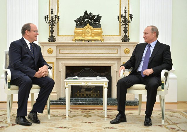 Russian President Vladimir Putin's meeting with Prince Albert II of Monaco