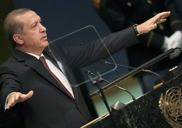 President Tayyip Erdogan of Turkey addresses the 71st United Nations General Assembly in Manhattan, New York, U.S. September 20, 2016