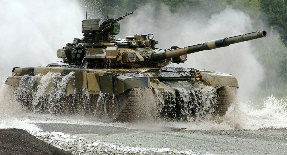 Russian T-90S tank