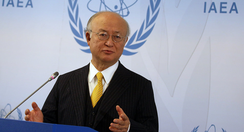 Director General of the International Atomic Energy Agency, IAEA, Yukiya Amano of Japan addresses the media during a news conference after a meeting of the IAEA board of governors at the International Center in Vienna, Austria. (File)