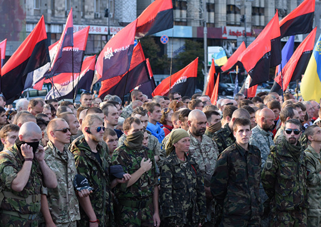 Right Sector public meeting in Kiev. File photo