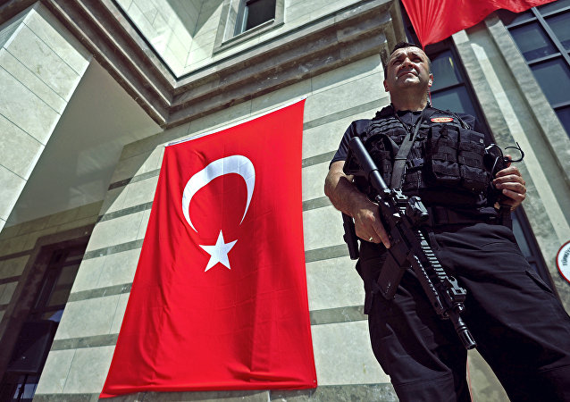A member of the Turkish security forces
