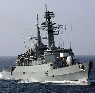 The Pakistani Naval frigate PNS Tippu Sultan (D-185)