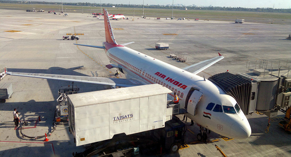 Air India Flight parked in Delhi T3 terminal