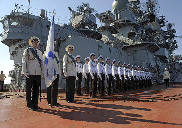 Russia's Pyotr Veliky missile cruiser makes port call in Tartus, Syria