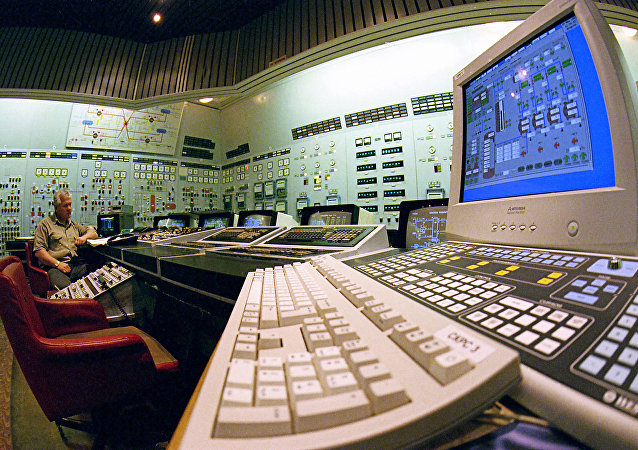 The control panel of the Zaporozhye nuclear power plant