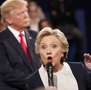 Democratic U.S. presidential nominee Hillary Clinton speaks during their presidential town hall debate with Republican U.S. presidential nominee Donald Trump at Washington University in St. Louis, Missouri, U.S., October 9, 2016.