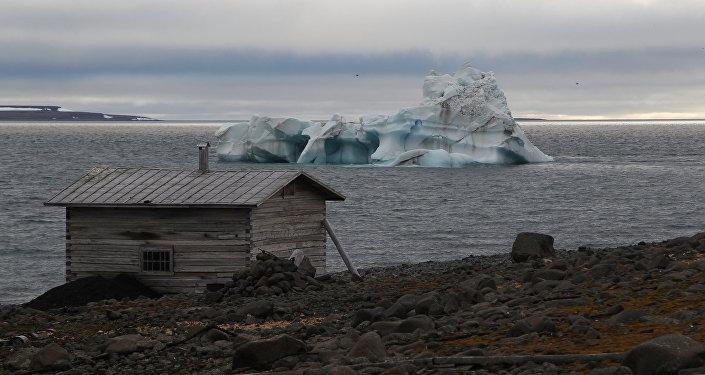 A bay on Hooker Island, Franz Josef Land, Russia