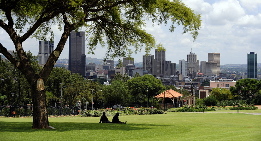 View of the city of Pretoria from the Union Buildings in South Africa