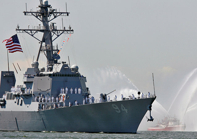 The USS Nitze, a Guided Missile Destroyer is pictured in New York Harbor, May 24, 2006