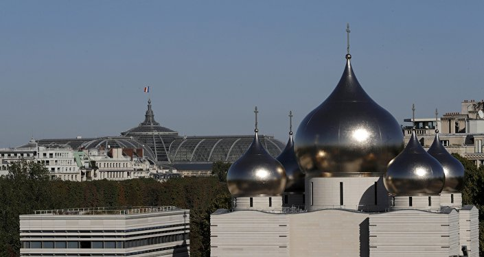 A view shows the Russian Orthodox Cathedral Sainte-Trinite and spiritual centre before its inauguration in Paris, France, October 4, 2016.