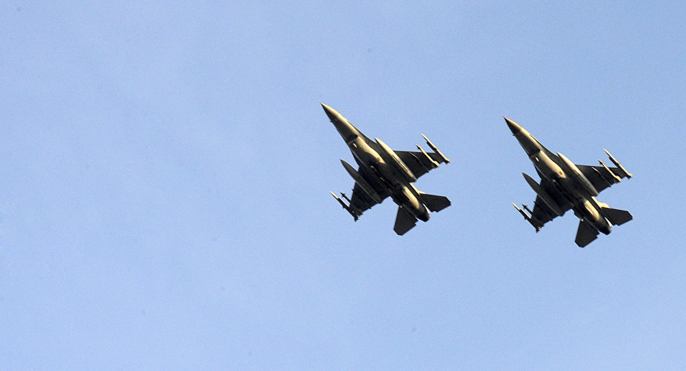 Two Belgian F-16 fighter jets. (File)