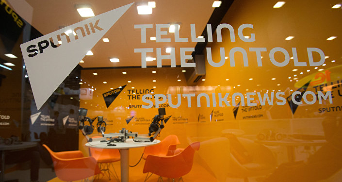 Stand of the Sputnik International Information Agency. (File)