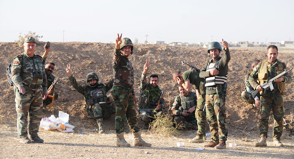 Peshmerga forces near Mosul, Iraq