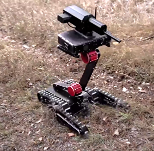 New Russian made armed robot RS1A3 Mini Rex able to be carried in a backpack