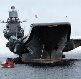 The Admiral Kuznetsov aircraft cruiser