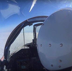 First-Person View: Russian Fighter Jet Fires Missile at 'Enemy' Targets