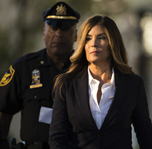 Former Pennsylvania Attorney General Kathleen Kane arrives at Montgomery County courthouse for her scheduled sentencing hearing in Norristown, Pa., Monday, Oct. 24, 2016.