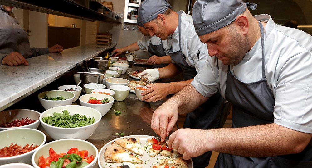Sp.accio pizzeria run by former drug addicts as part of their rehabilitation program in Coriano, Italy