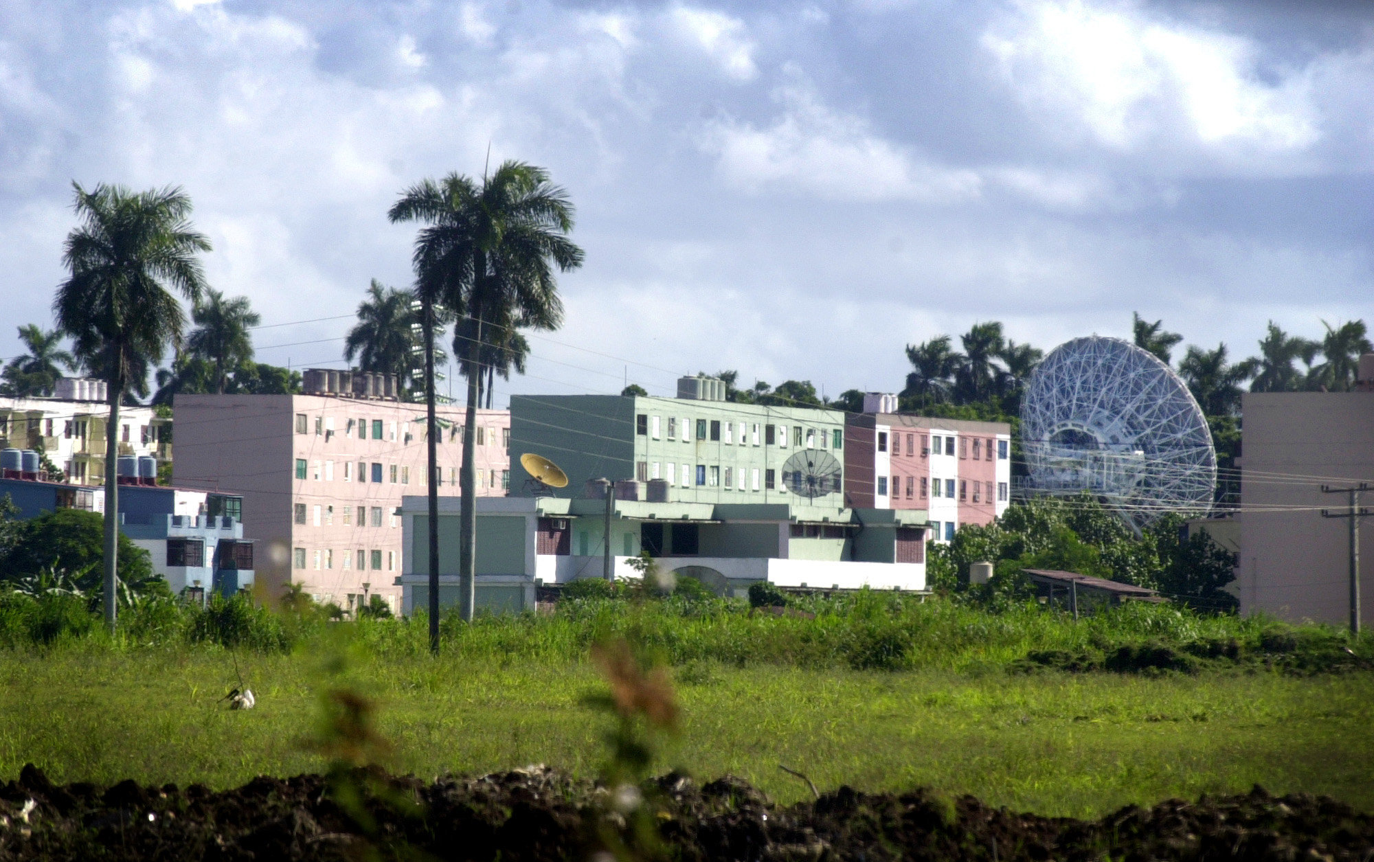 A Russian radar station is seen in Lourdes, about 12 miles south of Havana, Cuba Wednesday Oct. 17, 2001