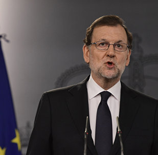 Spanish Prime Minister Mariano Rajoy speaks during a press conference at the Moncloa Palace in Madrid on October 25, 2016