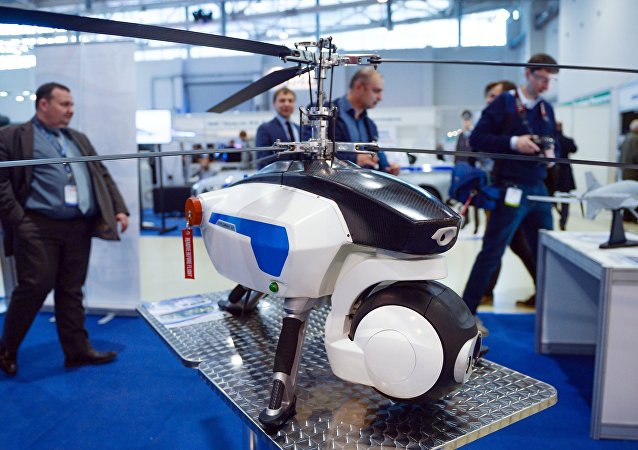 Osa drone displayed at Interpolitex 2015, the international homeland security exhibition in Moscow