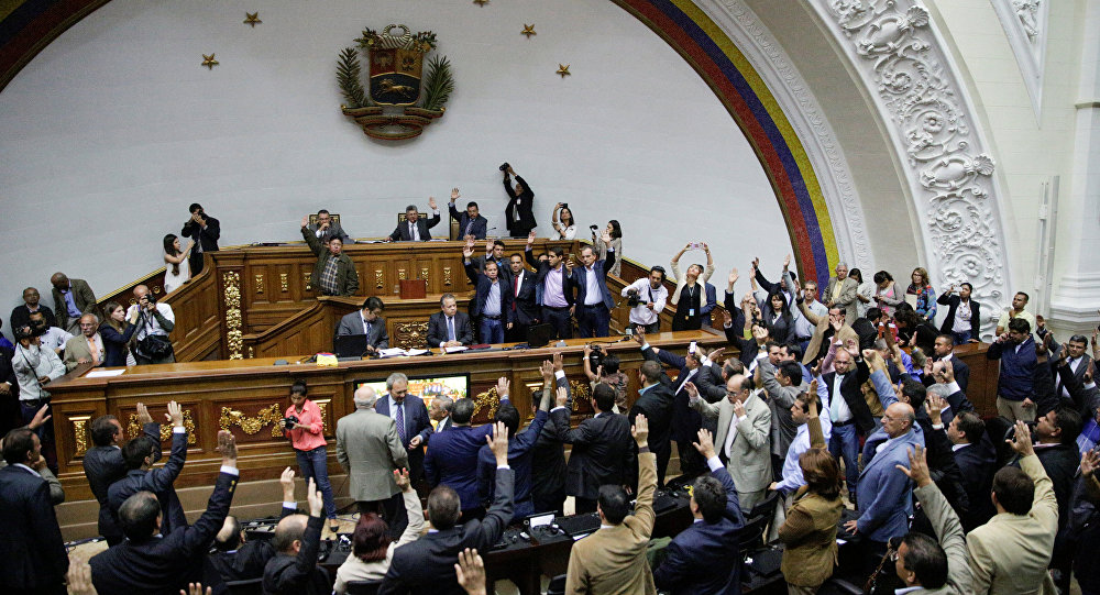 A general view of Venezuela's National Assembly during a session in Caracas, Venezuela October 25, 2016