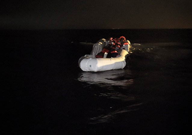 A total of 25 migrants were found dead in a rubber boat in the Mediterranean Sea