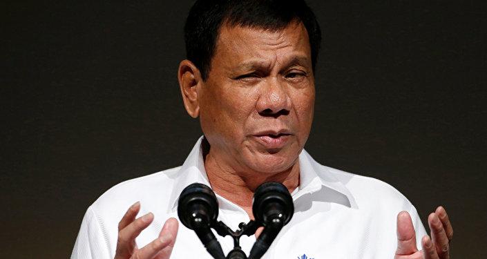 El presidente filipino, Rodrigo Duterte, asiste al Foro Económico de Filipinas en Tokio, Japón, el 26 de octubre de 2016.