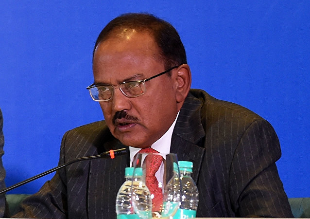 Indian National Security Advisor Ajit Kumar Doval delivers his speech during the Munich Security conference in New Delhi. (File)