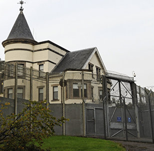 An exterior view of Dungavel House Immigration Removal Centre, south of Glasgow, Scotland taken on August 15, 2104.